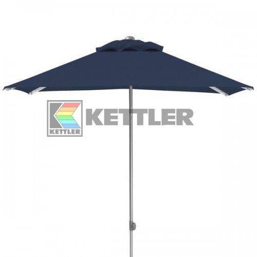 EASY Push Schirm, 200x200 cm, UPF 50+, mit PU-Beschichtung silber/ blau
