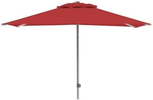 EASY Push Schirm, 200x200 cm, UPF 50+, mit PU-Beschichtung silber/ rot