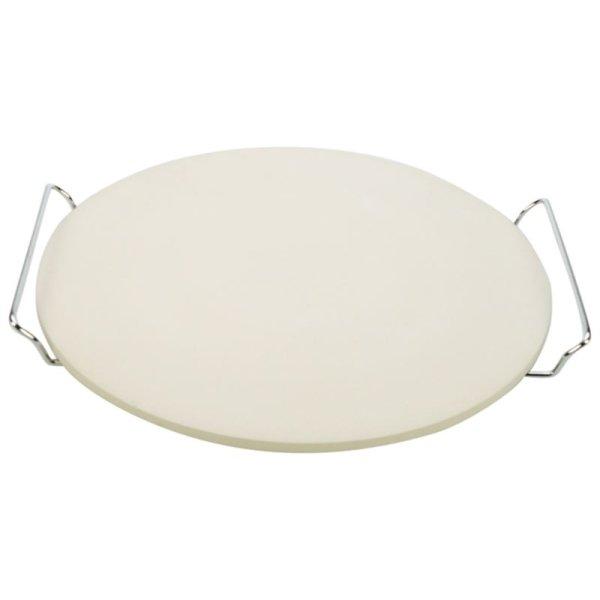 Pizzastein mit Halter Freiluftküche Ø33cm geeignet auch für BBQ