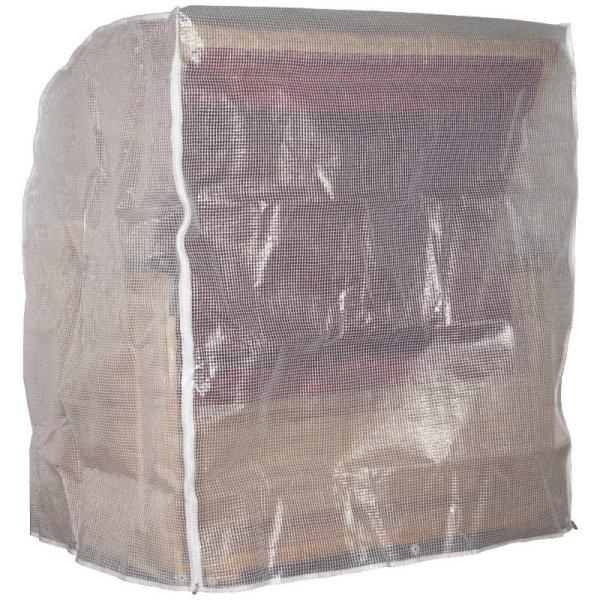 Schutzhülle transparent, 2-Sitzer XL mittelschwere Ausführung ca. 135x110x156 cm (BxTxH)