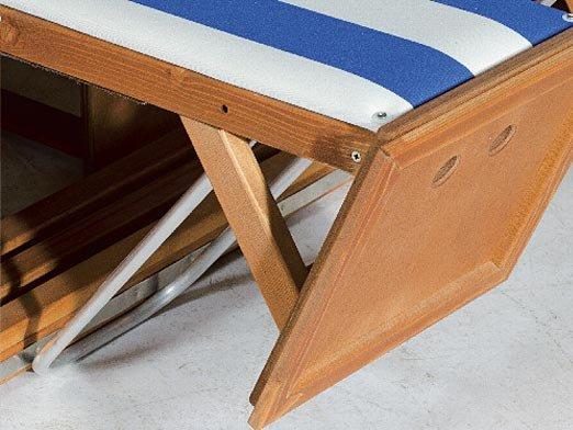 Höhenverstellung der  Fußstützen für 2-Sitzer und 2-Sitzer-XL
