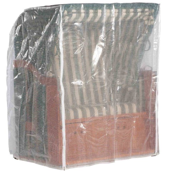 Schutzhülle transparent, 2-Sitzer, mittelschwere Ausführung  125x110x156 cm (BxTxH)