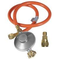 Gasdruckregler  mit Schlauch & Adapter DE, 50 mbar