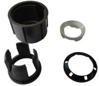 Überwurfmutter eisengrau mit Adapterset, zu Schirmständer: 4001/4251/5001