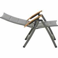 Savina Klappsessel Gestell Aluminium matt-graphit, Fläche Texfabric grau