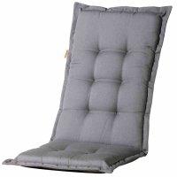 Panama grau, Auflage zu Sessel hoch 50% Baumwolle / 45%...
