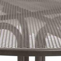 Boulevardtisch Ø 90x74 cm Gestell Stahl eisengrau, Tischplatte Streckmetall eisengrau Elotherm beschichtet