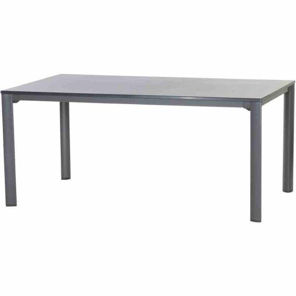 Lofttisch vivodur 165x95 cm, eisengrau/anthrazit Aluminiumgestell eisengrau / vivodur-Tischplatte Schieferoptik anthrazit