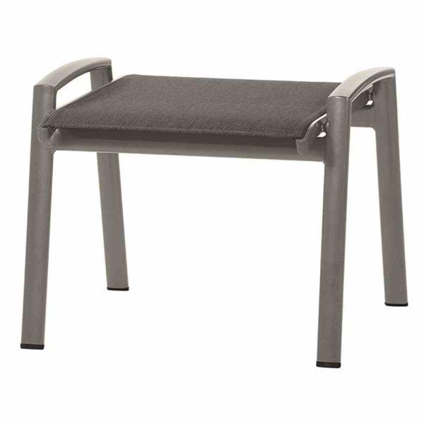 Savina Hocker Gestell Aluminium matt-graphit, Fläche Texfabric grau
