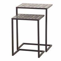 Como Tischset I, 2-teilig Stahl mit Mosaikoptik