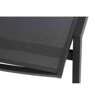 Milos Rollliege Gestell Aluminium matt-anthrazit, Fläche Ranotex®-Gewebe schwarz-silber