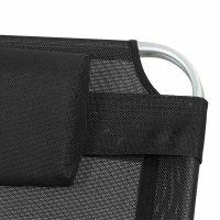 Sole Sonnenliege Aluminium silber mit Textilbezug schwarz