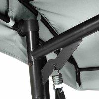 Livorno Schaukel Gestell Stahl anthrazit, Fläche Ranotex®-Gewebe silber-schwarz