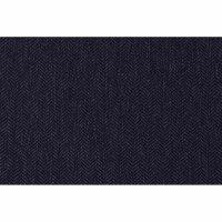 Aster Sitzkissen/Hockerauflage Dessin Fish Bone dunkelblau, 100 % recyceltes Polyester