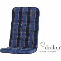 Tarent Auflage zu Sessel, 123 cm, Karo blau Bezug aus...