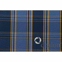 Tarent Auflage zu Sessel, 123 cm, Karo blau Bezug aus 100% Acryl-Dralon, Dessin 254