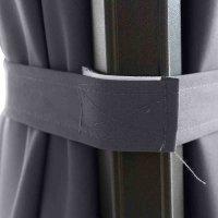 Sunset N+ Ampelschirm anthrazit/anthrazit Ø 350cm Gestell Aluminium anthrazit, Bezug 100% Polyester, 300g/m² in anthrazit, PU-beschichtet, UPF 50+