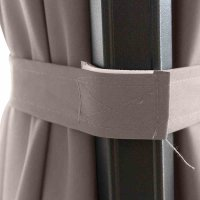 Sunset N+ Ampelschirm anthrazit/taupe Ø 350cm Gestell Aluminium anthrazit, Bezug 100% Polyester, 300g/m² in taupe, PU-beschichtet, UPF 50+