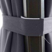 Sunset N+ Ampelschirm anthrazit/anthrazit 350x260cm Gestell Aluminium anthrazit, Bezug 100% Polyester, 300g/m² in anthrazit, PU-beschichtet, UPF 50+