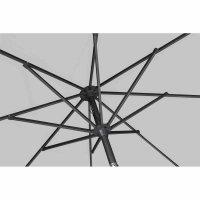 Avio Mittelstockschirm anthrazit/stone Ø 300cm Gestell Alu anthrazit, Streben Stahl, Bezug 100% Polyester, 220g/m² stone, Lichtschutzfaktor UPF 50+