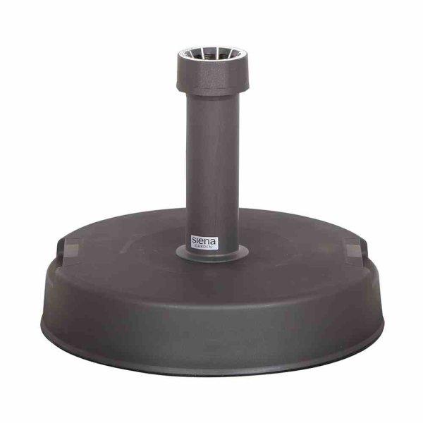 Betonständer 30 kg rund, anthrazit Kunststoffrohr 21-54 mm, mit Handmulden