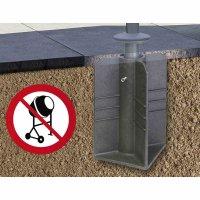 Bodenständer Earthbase für Ampelschirme Montage ohne Beton