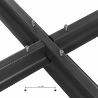 Stahlkreuz für Schirme schwarz