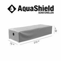 AquaShield Liegenhülle 210x75xH40 cm hellgrau