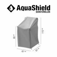 AquaShield Stapelstuhlhülle 67x67xH80/110 cm hellgrau, 100% Polyester