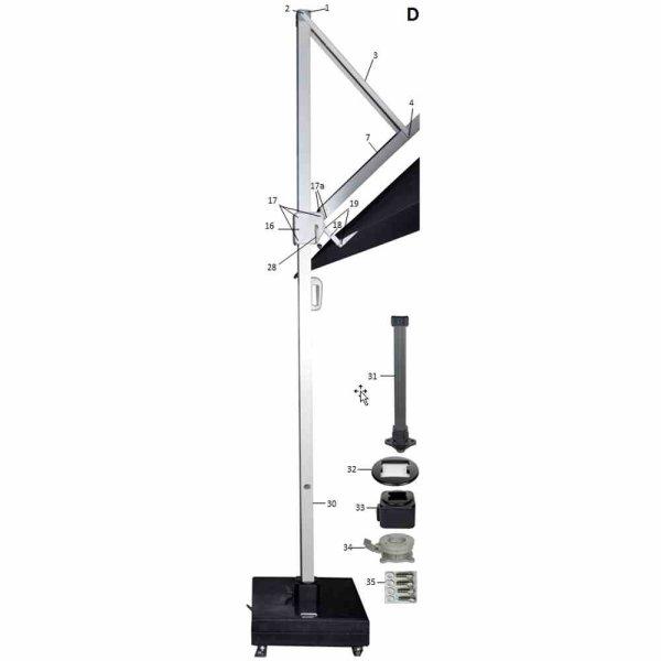 Drehkranz zu Stratos und Cirrus Ampelschirm, Bauteil #34
