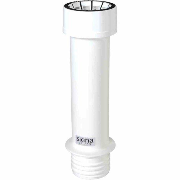 Kunstoffrohr zu Beton Schirmständer, weiß, mit Supergrip-Überwurfmutter, für Schirmstöcke in 21-54 mm