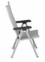 Multipositionssessel BasicPlus Padded, silber/hellgrau, Alu / Textillene, verstellbare Rückenlehne