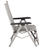 BasicPlus Padded Relaxsessel, silber/hellgrau, Alu/Textilene, verstellbare Rückenlehne