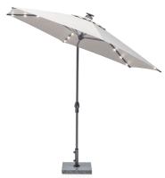 EASY ALLROUND LED Kurbelschirm Ø 300 cm mit PU-Beschichtung anthrazit/ hellgrau meliert