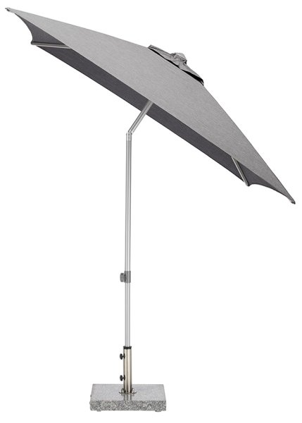 EASY Push Schirm, 200x200 cm, UPF 50+, mit PU-Beschichtung silber/ charcoal