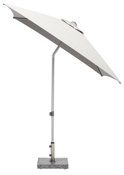 EASY Push Schirm, 200x200 cm, UPF 50+, mit PU-Beschichtung silber/ hellgrau meliert