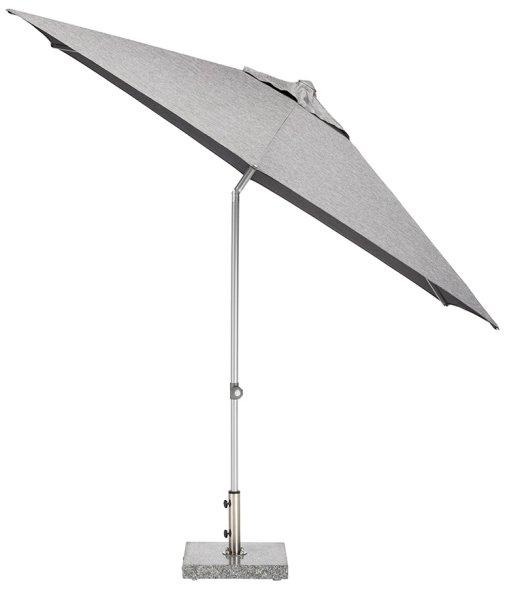 EASY Push Schirm,  Ø 300 cm, UPF 50+, mit PU-Beschichtung silber/ charcoal