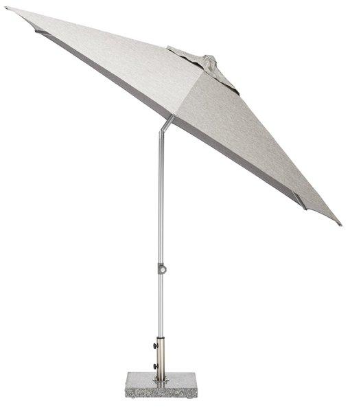 EASY Push Schirm,  Ø 300 cm, UPF 50+, mit PU-Beschichtung silber/ hellgrau meliert