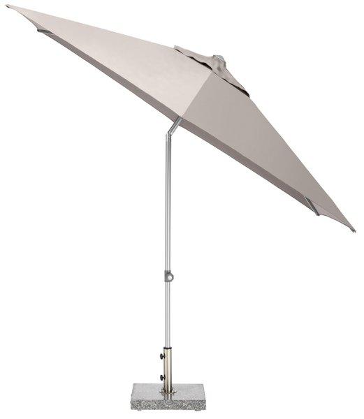 EASY Push Schirm,  Ø 300 cm, UPF 50+, mit PU-Beschichtung silber/ taupe
