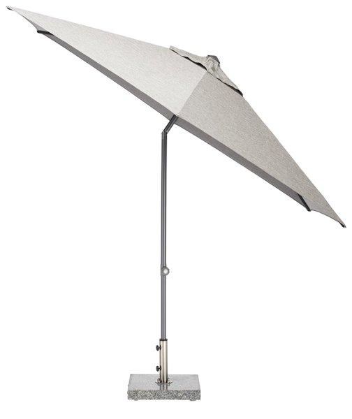 EASY Push Schirm,  Ø 300 cm, UPF 50+, mit PU-Beschichtung anthrazit/ hellgrau meliert