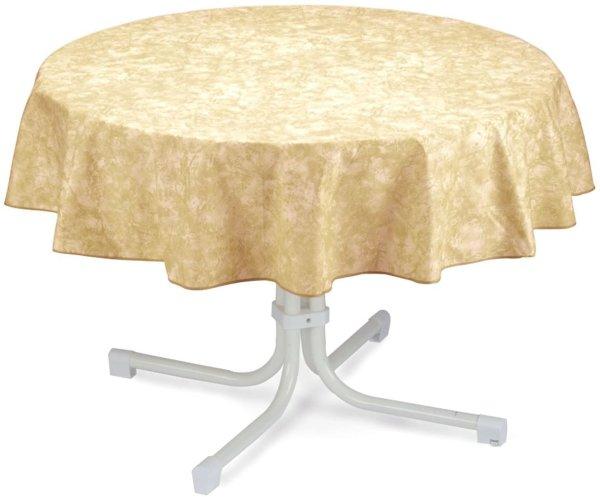 Tischdecke rund 130cm beige-marmoriert