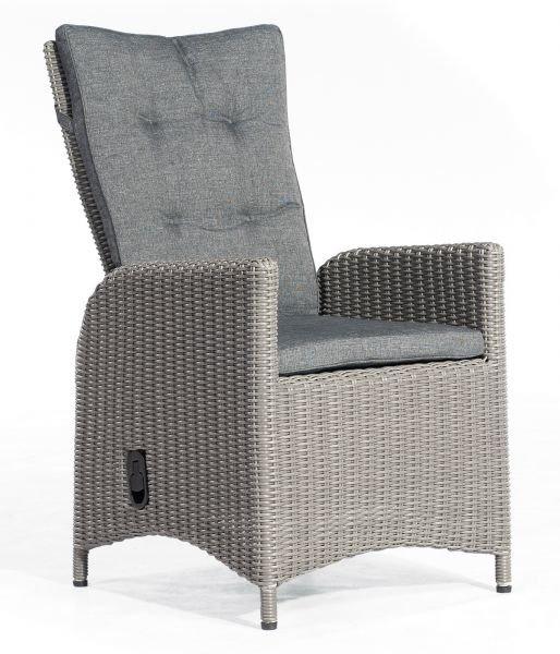 """Sessel """"Para-Plus"""" verstellbar Alu/Kunststoffgeflecht rustic-vintage inkl. Kissen"""